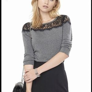 EUC Express lace yoke sweater